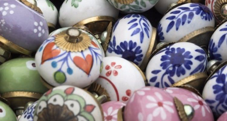 colorful and unique round ceramic dresser knobs